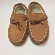 Minnetonka Women's Shoes Sz 10 Mocassins Slippers Suede Leather Faux Fur... - £13.99 GBP