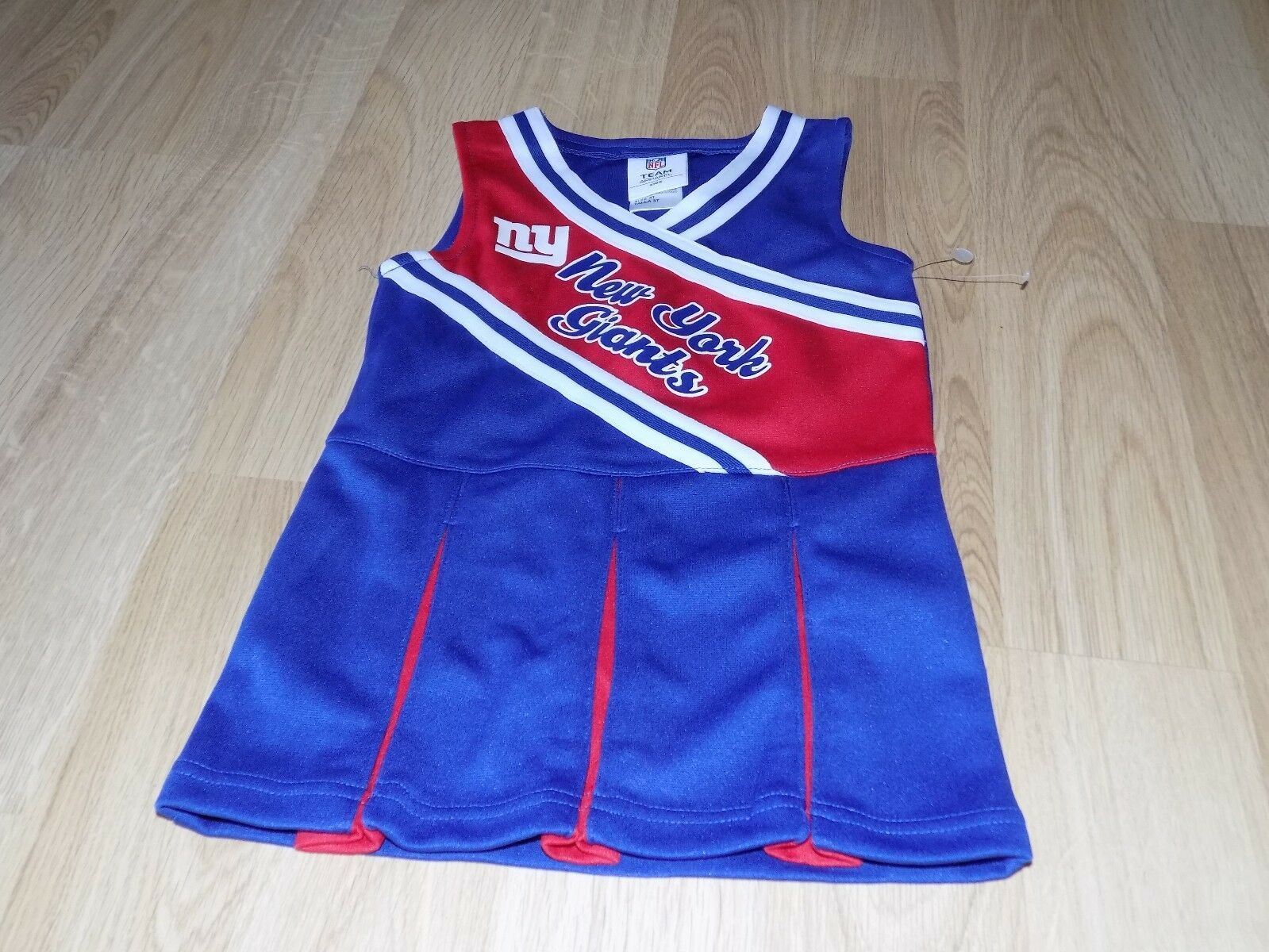 Primary image for Size 3T NFL Team New York Giants Blue Red Cheerleader Cheer Uniform Dress New