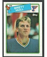 St Louis Blues Brett Hull Rookie Card RC 1988 Topps Hockey Card # 66 - $24.99