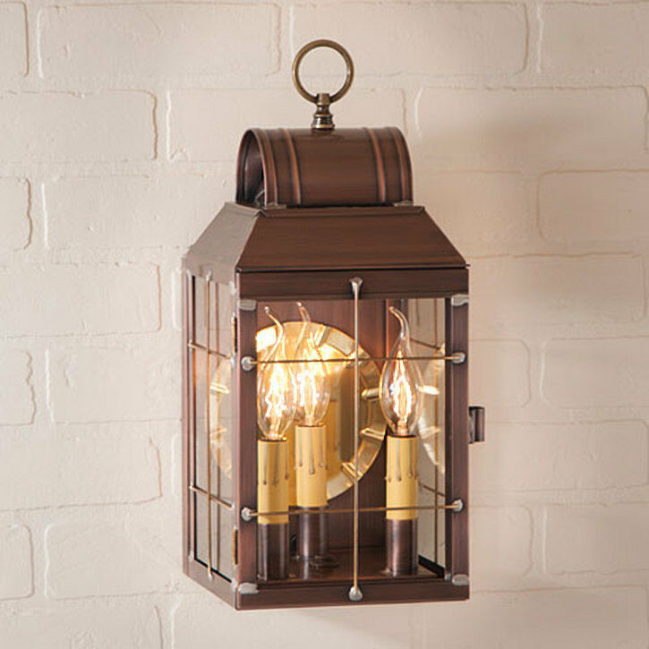 MARTHA'S new Solid Copper Outdoor Triple light Lantern Sconce image 1