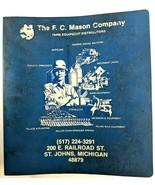 FC Mason Company Farm Equipment Binder of Dealer Parts Catalogs Manuals ... - $43.54