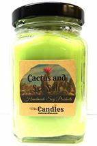 Cactus & Sea Salt 6oz Victorian Square Glass Jar Soy Candle - Made with ... - $14.72