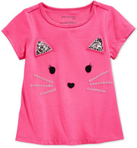 First Impressions Baby Girls' Kitty Face T-Shirt, Pink, Sizes:3-6, 12 Months - $9.99