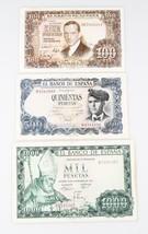 1953-1973 Spain Peseta Notes Lot (3) F-XF Banco de Espana P#145a 151 153a - $61.38