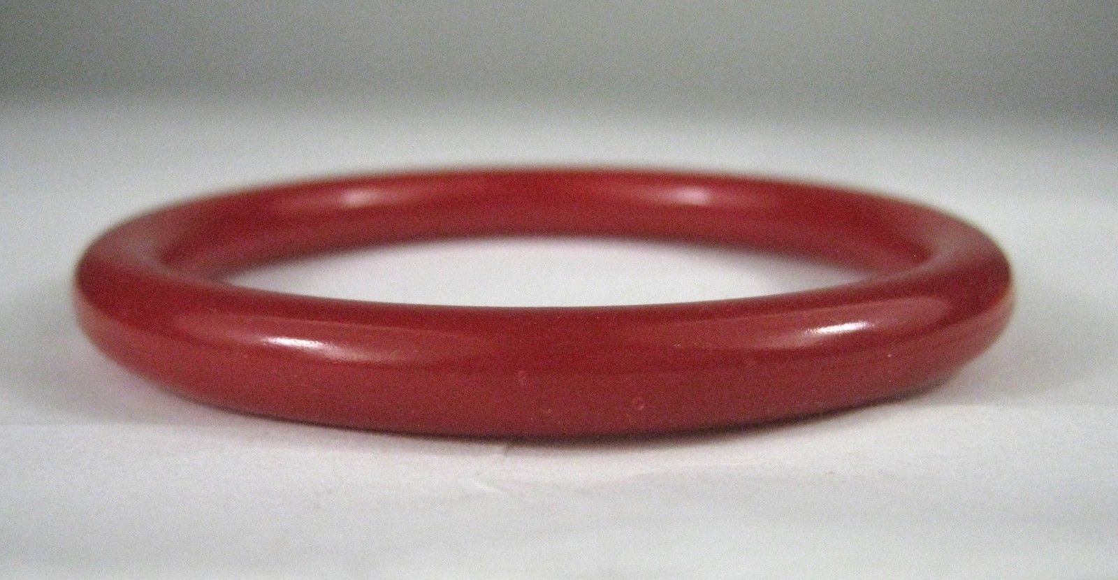 Lucite Women's Bracelet Bangle Red Cherry Spacer Size 3 3/8 Inches VTG image 2