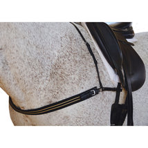 Breast Collar with Elastic Web Chest-Black-Horse - $59.99
