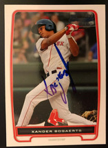 2012 Bowman RC Xander Bogaerts Boston Red Sox #BP105 Rookie SIGNED Autograph - $74.79