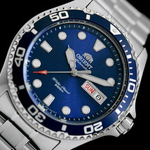 ORIENT MAKO FAA02005D automatic men's watch divers blue dial steel bracelet - $169.00