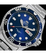 ORIENT MAKO FAA02005D automatic men's watch divers blue dial steel bracelet - $169.00