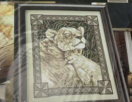 Bucilla Counted Cross Stitch Contentment Lion Lioness Cub Big Cat 43517 ... - $13.98