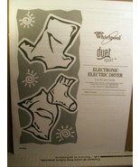Use & Care Guide Whirlpool Duet Sport Electronic Electric Dryer 8578899 ... - $8.99