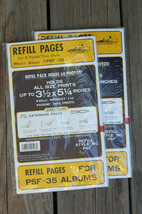 """2 @ PIONEER Album Refill Pages PSF-35 each holds 60 Photos 3½x 5¼"""" NEW O... - $29.99"""