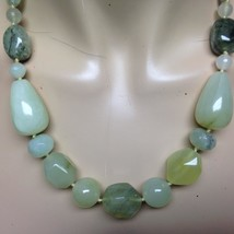 Elegant, Chunky Green Jade Beads, 22in Beaded Necklace - $66.45