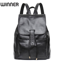 WINNER® Soft Cow Real Leather String College School Backpacks Luxury Bac... - ₹4,897.25 INR