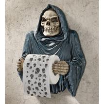 Gothic Toilet Tissue Grim Reaper Shrouded Skeleton Bathroom Toilet Paper... - $1.297,99 MXN
