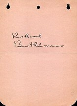 RICHARD BARTHELMESS Autograph. Signed on album page. Founder Mot.Pic.Ada... - $34.64