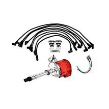 A-Team Performance HEI Distributor Red Cap with Silicone Spark Plug Wire Set & P