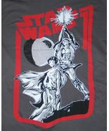 Classic Star Wars Luke, Leia & Death Star T-Shirt Small NEW UNUSED - $19.34
