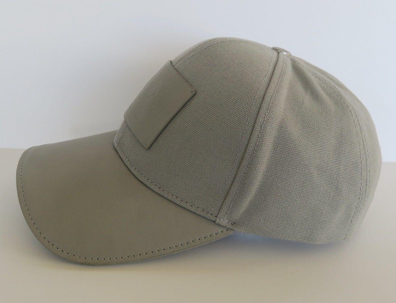 7e54b9becf2 Armani Exchange AIX Logo Patch Trucker Full Back Hat Cap in Allow Grey BNWT