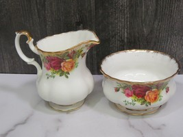 Royal Albert England Old Country Roses Large Creamer and Open Sugar - $29.70