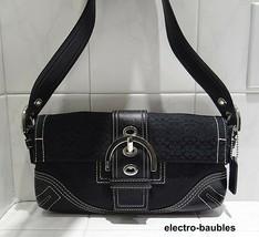 Coach 3628 Soho Black Mini Jacquard / Leather Shoulder Bag - MINT! - $34.64