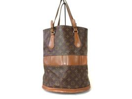 Authentic Louis Vuitton Vintage Bucket Monogram Tote Bag Shoulder Bag LB9634L - $230.00