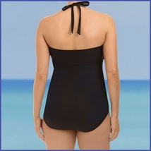 Black Sexy Big Girl Monokini Lace Up Open Sides One Piece Plus Size Swimsuit image 2