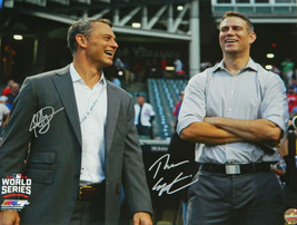 THEO EPSTEIN & JED HOYER Dual Signed Cubs 2016 World Series 16x20 Photo ... - $200.00