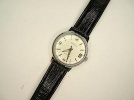 Caravelle Waterproof White Dial 11DPD 7 Jewel Vintage 1967 Watch Runs - $134.49