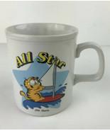 Garfield the Cat All Star Coffee Cup Mug 1978  Sailing Jim Davis- Vintag... - $10.04