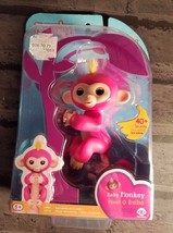 Fingerlings Baby Monkey Bella Interactive Pink yellow hair WowWee Toy au... - $14.98