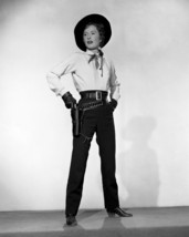 Barbara Stanwyck posing in western garb gun in holster 16x20 Poster - $19.99