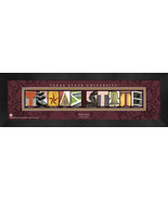 Personalized Texas State University Campus Letter Art Framed Print - $39.95