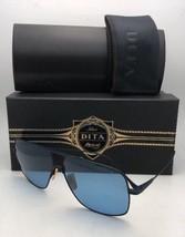 Neu Dita Sonnenbrille Flug 005 7805-E-BLK-NVY-61 Blau & Gold Aviator mit / Linse
