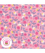 Moda ONCE UPON A TIME 20594 13 Pink Floral STACY H Quilt Fabric CINDERELLA - $5.75