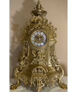 Imperial GB / Franz Hermle Ornate Brass Bell Ringing Mantle Clock VTG 2 ... - $741.51