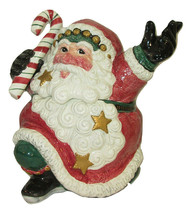 Fitz and Floyd Cookie Jar Jolly Ole St Nick Collection Santa Christmas O... - $39.59