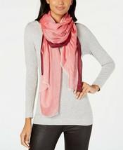 Calvin Klein Stripe Border Chambray Scarf - $44 - NWT - $9.19
