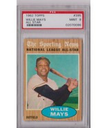 1962 Topps Willie Mays All Star #395 PSA 9 P618 - $1,666.23