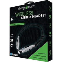 Wireless Stereo Headset Bluetooth Chargeworx Premium Sound Quality (Silver) - $23.88