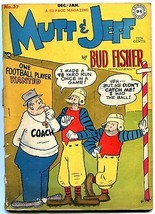 Mutt and Jeff #37 1948- Football cover- DC Golden Age- Bud Fisher p/f - $22.70