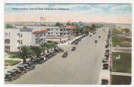Ocean Avenue Cars Long Beach California 1920s postcard - $5.94
