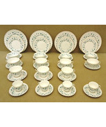 Royal Doulton English Waverly Bone China Place Setting Set of 4 H4963 - $175.75