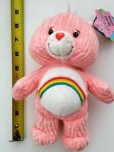 Carebear 2003 Pink Rainbow Cheer Care Bear Ribbed Corduroy Beanbag Plush... - $34.64