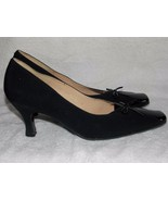 Andrea Black Bow Patent Leather Pump Heels 26/9 For Women Used - $59.39