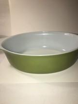 Vintage Pyrex Green Verde Casserole # 045 (No Lid) 2 1/2 Quart - $14.85