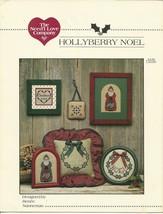 HollyBerry Noel Cross Stitch Embroidery Pattern Leaflet Christmas Santa ... - $4.99