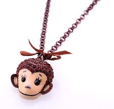 Simple Long Monkey Necklace Gold Color Chain Summer Fashion Joker Animal... - $9.97