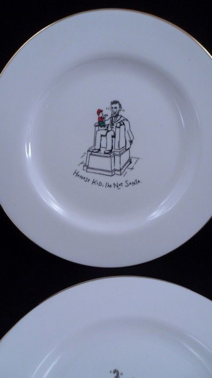 4 Dayton Hudson Merry Masterpieces Christmas Plates Lincoln Statue of Liberty ++