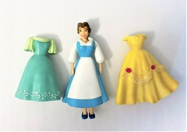 Disney Princess Polly Pocket Style Doll and 3 Dress Set Beauty &The Beas... - $7.84